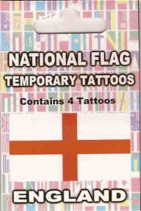 England Country Flag Tattoos.